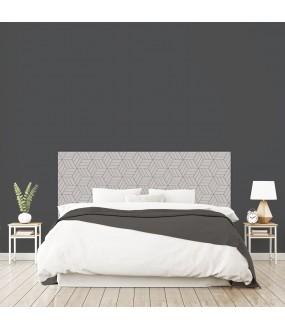 """Tête de lit """"LABYRINTHE"""" gris sur mesure"""