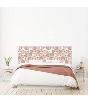 """Tête de lit """"TUBUL"""" rose sur mesure"""