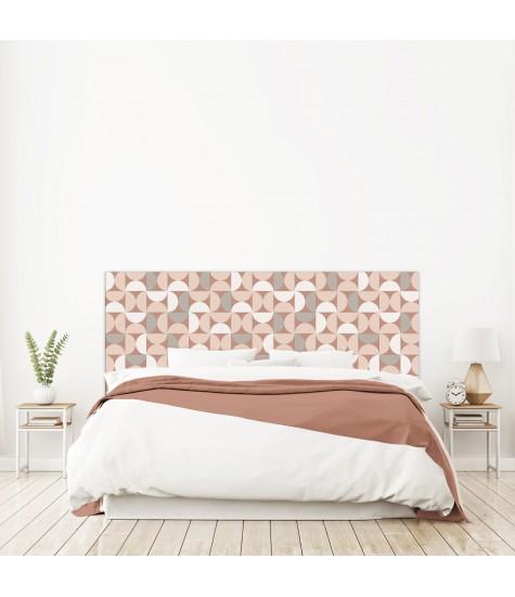 """Tête de lit """"DEMI CERCLE"""" Géométrique rose sur mesure"""