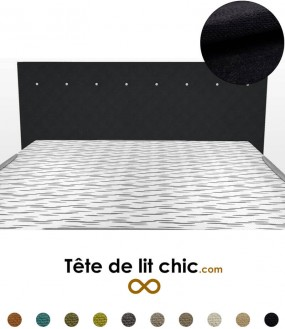 t te de lit noire du design et du luxe dans votre. Black Bedroom Furniture Sets. Home Design Ideas