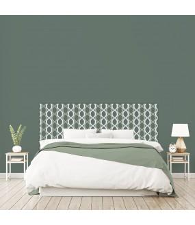 """Tête de lit """"ELIPSE"""" vert sur mesure"""