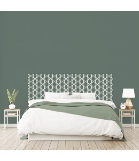 "Tête de lit ""ELIPSE"" verte sur mesure"