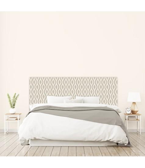 """Tête de lit """"SERPENT""""grise sur mesure"""