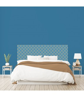 """Tête de lit """"GLAM"""" bleue sur mesure"""