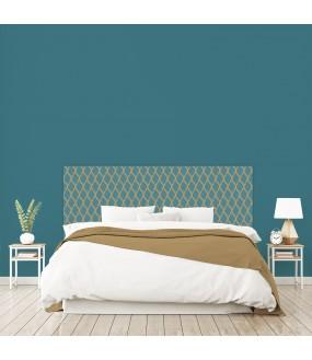 """Tête de lit """"VOLUTES"""" bleue sur mesure"""