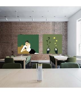 Habillage de mur sur mesure PVC Coworking