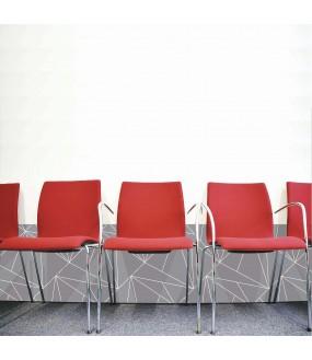 Protection salle d'attente sur mesure PVC Géométrique