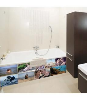 Habillage Tablier de baignoire sur mesure Pvc personnalisable montage photos