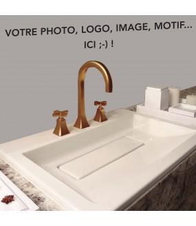 Habillage de lavabo sur mesure PVC avec votre photo ou motif