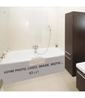 Habillage de baignoire sur mesure PVC avec votre photo ou motif