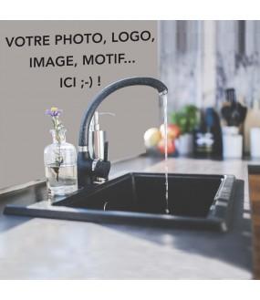 Habillage de mur de cuisine sur mesure PVC avec votre photo ou motif