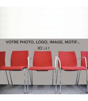 Protection salle d'attente sur mesure PVC avec votre photo ou motif