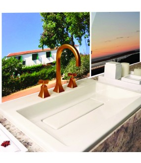 Crédence salle de bain PVC sur mesure personnalisable