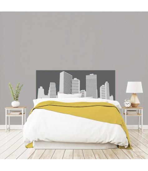 """Tête de lit """"NEW YORK"""" Grise sur mesure"""