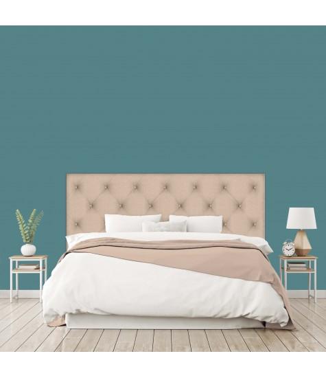 """Tête de lit """"CAPITONNEE"""" Photo Trompe l'oeil Beige charme sur mesure"""