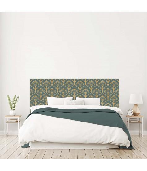 """Tête de lit """"ARABESQUE""""Art déco verte sur mesure"""