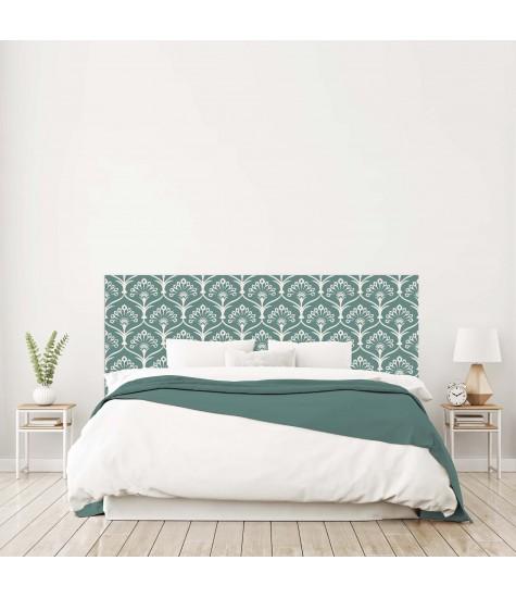 """Tête de lit """"ARABESQUE"""" Art déco bleu canard sur mesure"""