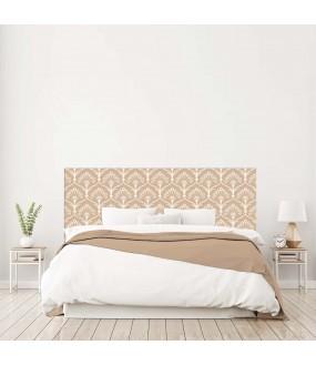 """Tête de lit """"ARABESQUE"""" Art déco beige sur mesure"""