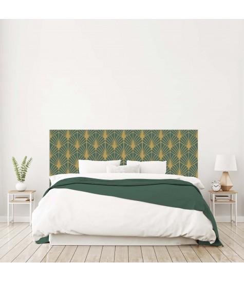 """Tête de lit """"EVENTAIL"""" Art déco vert sur mesure"""