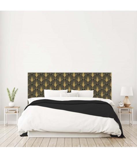 """Tête de lit """"EVENTAIL"""" Art déco noire sur mesure"""