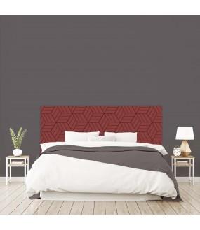 """Tête de lit """"ART DECO GEOMETRIQUE"""" Labyrinthe rouge  sur mesure"""