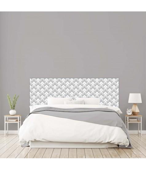 """Tête de lit """"CHARME"""" grise sur mesure"""