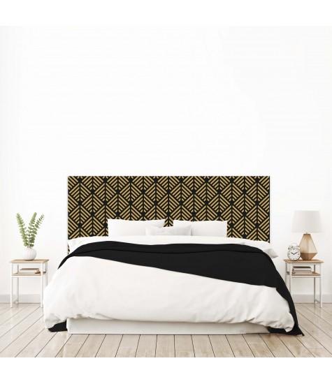 """Tête de lit """"CHEVRON"""" Art déco noire sur mesure"""