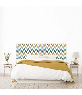 """Tête de lit """"SCANDINAVE"""" multicolore sur mesure"""