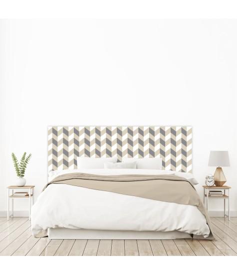 "Tête de lit ""SCANDINAVE"" beige sur mesure"