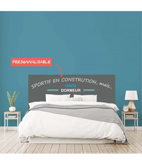 """Tête de lit """"FETE DES PERES SPORT"""" sur mesure"""