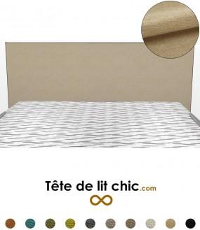 Tête de lit beige en tissu anti-tache personnalisable