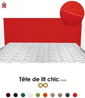 Tête de lit moderne rouge anti-feu personnalisable à boutons