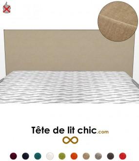 Tête de lit beige anti-feu rectangulaire design personnalisable