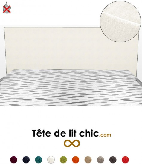Tête de lit moderne blanche anti-feu rectangulaire personnalisable