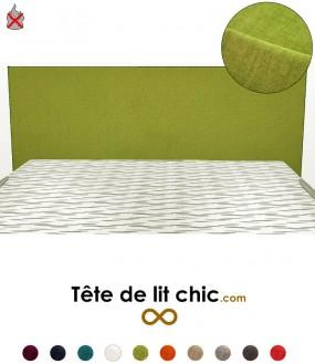 Tête de lit moderne verte anti-feu rectangulaire personnalisable