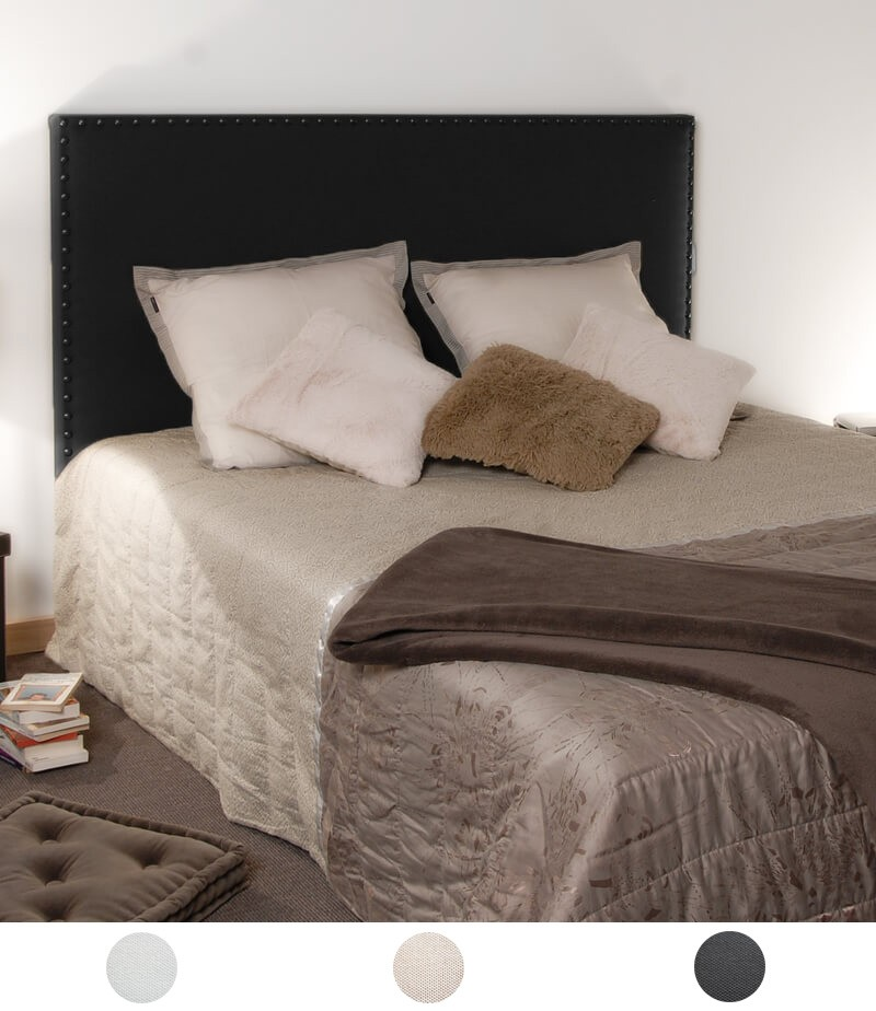 t te de lit clout e en tissu personnalisable 3 couleurs disponibles. Black Bedroom Furniture Sets. Home Design Ideas