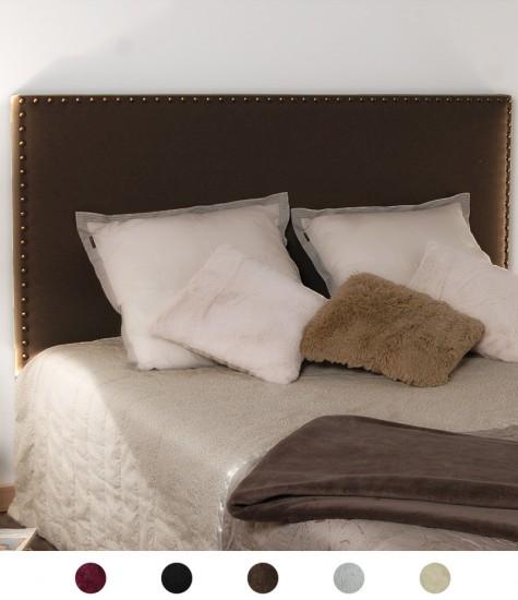 Tête de lit en velours cloutée personnalisable - 8 tailles disponibles
