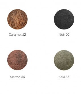 Echantillon 5 x 5 cm de la tête de lit en simili cuir vieilli personnalisable