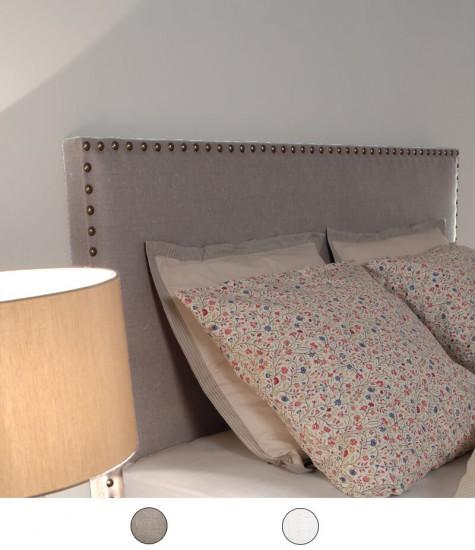 tête de lit en imitation lin cloutée personnalisable - 8 tailles au