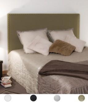 Tête de lit en simili cuir cloutée fin personnalisable - 8 tailles au choix