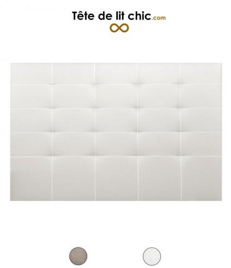 Tête de lit en imitation lin cloutée personnalisable
