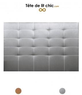 Tête de lit en simili cuir couleur cuivre ou argent cloutée personnalisable