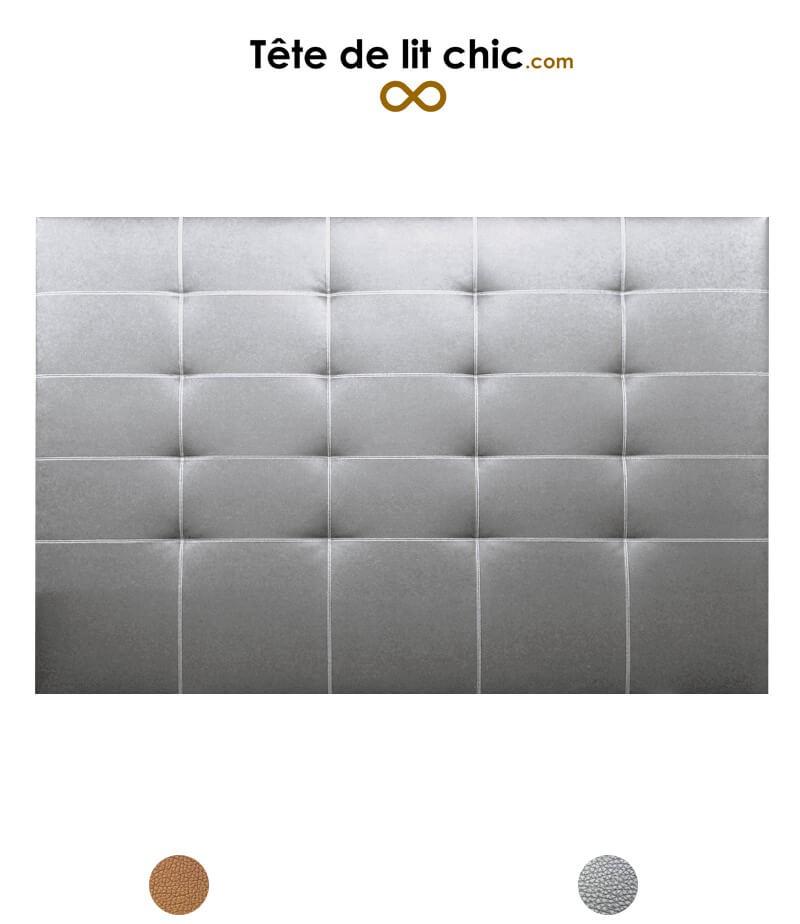Tête de lit surpiquée en simili cuir couleur cuivre ou argent ...