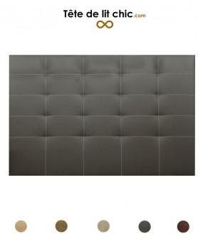 Tête de lit cloutée en alcantara personnalisable - 8 tailles disponibles