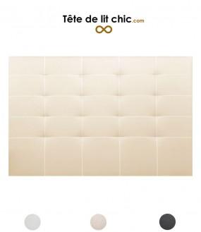 Tête de lit cloutée en nid d'abeille personnalisable - 3 couleurs disponibles