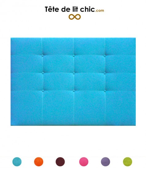Tête de lit de couleur vive à boutons en alcantara personnalisable