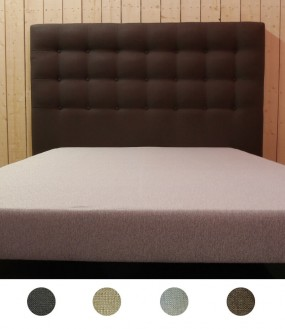 Tête de lit design capitonnée en imitation lin - 4 coloris disponibles
