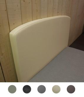 Tête de lit arrondie design en imitation cuir - 5 coloris disponibles