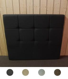 Tête de lit design en relief en imitation lin - 4 coloris disponibles