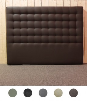 Tête de lit surpiquée design en imitation cuir - 5 coloris disponibles